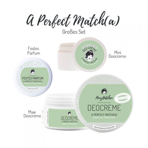 Großes Set A Perfect Match(a) (Festes Parfum, Deocreme Maxi & Mini)
